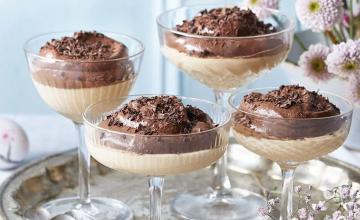 Double-Layer Custard and Chocolate Mousse