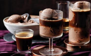 Chocolate Hazelnut Ice Cream Affogato