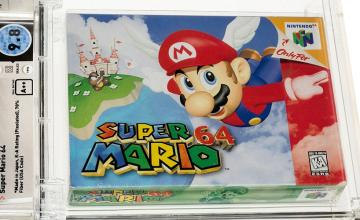Unopened Super Mario 64 game from 1996 sells at auction for record-breaking $1.56 million