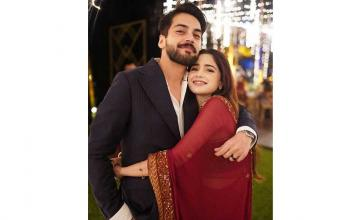 Aima Baig and Shahbaz Shigri got engaged in a dreamy intimate ceremony