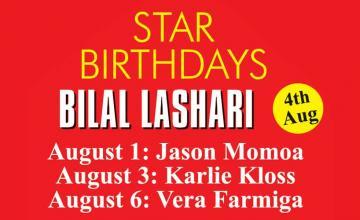 STAR BIRTHDAYS BILAL LASHARI