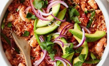 Mexican-style Prawn Rice with Avocado Salsa
