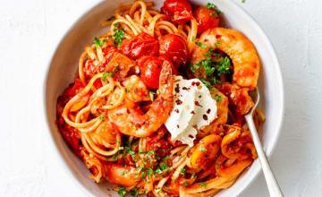 Chilli Tomato and Prawn Pasta