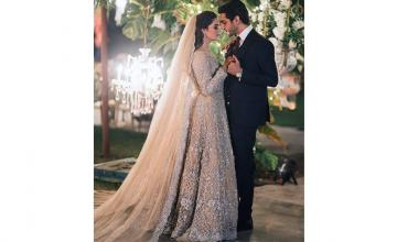 Wedding festivities of Minal Khan and Ahsan Mohsin kicked off with a bang