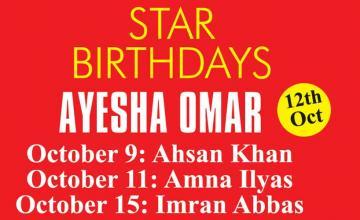 STAR BIRTHDAYS AYESHA OMAR