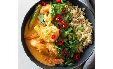 Thai Coconut Curry Shrimp Bowl