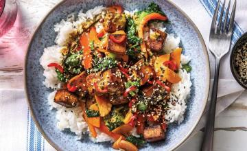 Asian Tofu Rice Bowls