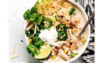 Creamy White Chicken Chilli Bowl