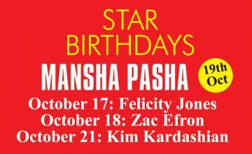 STAR BIRTHDAYS MANSHA PASHA